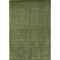 """Porch & Den Stanvick Green Hand-knotted Wool Gabbeh Area Rug - 9'8"""" x 6'6"""""""