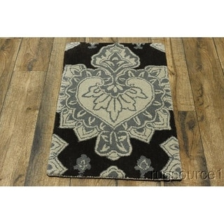 "Hand Made Traditional Oushak Agra Oriental Floral Area Rug - 3'1"" x 2'0"""