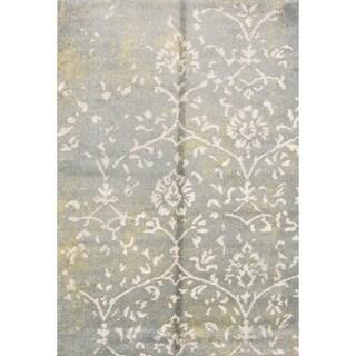 "Floral Belgium Oriental Shaggy Shag Area Rug - 5'2"" x 7'5"""