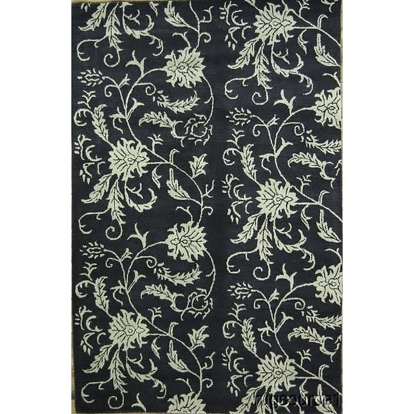 Shop Oushak Floral Tufted Wool Persian Oriental Area Rug: Shop Traditional Hand Tufted Wool Oushak Agra Oriental