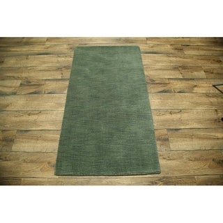 """Porch & Den Brandyshire Green Oriental Hand-knotted Area Rug - 5'0"""" x 2'9"""""""