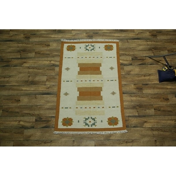 "Copper Grove Hadsund Traditional Oriental Hand Woven Wool Area Rug Beige - 5'10"" x 4'0"""