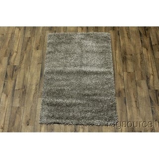 "Porch & Den Beckman Grey Hand-made Wool Shag Area Rug - 5'7"" x 4'0"""