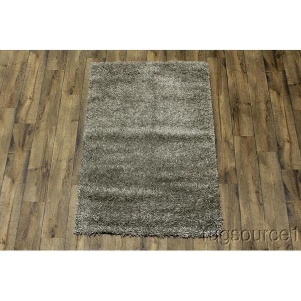 "Porch & Den Beckman Grey Hand-made Wool Shag Area Rug - 5'7"" x 4'0"""