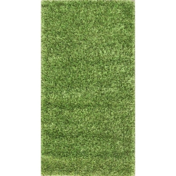 "Porch & Den Beckman Green Hand-knotted Shaggy Classic Oriental Area Rug - 4'9"" x 2'6"""