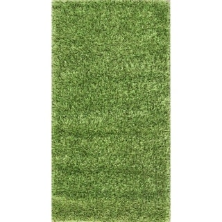"""Porch & Den Beckman Green Hand-knotted Shaggy Classic Oriental Area Rug - 4'9"""" x 2'6"""""""