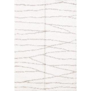 "Contemporary Striped Belgium Oriental Area Rug - 5'2"" x 7'3"""