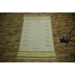 """Copper Grove Marslet Oriental Area Rug Hand Woven Woolen Beige - 9'8"""" x 6'6"""""""
