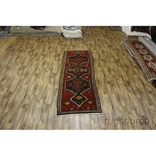 "Anatolian Wool Traditional Turkish Hand Made Rug Beige Oriental - 11'2"" x 3'11"" runner"