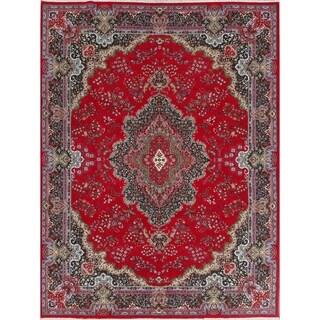 "Soft Plush Floral Kerman Persian Large Area Rug - 12'7"" x 9'7"""