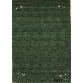 """Modern Hand Knotted Gabbeh Oriental Solid Area Rug - 6'4"""" x 4'6"""""""
