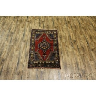 "Hand Knotted Anatolian Oriental Traditional Classical Area Rug Red - 6'2"" x 3'4"""