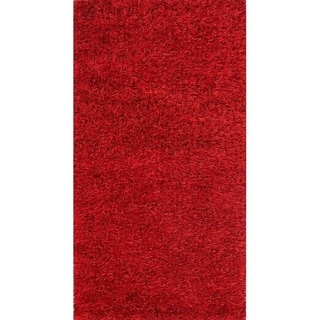 "Porch & Den Beckman Red Hand-made Shaggy Classic Oriental Rug - 5'0"" x 2'6"""