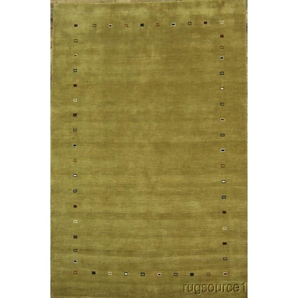 "Porch & Den Blamon Yellow Hand-knotted Wool Oriental Area Rug - 9'11"" x 6'7"""