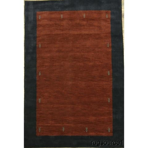 "Porch & Den Barsotti Border Pattern Hand-made Oriental Area Rug - 10'0"" x 6'8"""