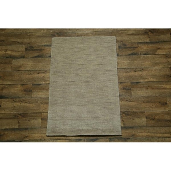 "Strick & Bolton Francesco Beige Hand-knotted Wool Area Rug - 4'9"" x 3'2"""