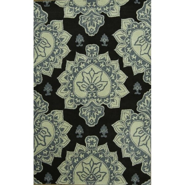 "Gracewood Hollow Nambozo Hand-tufted Floral Wool Area Rug - 11'5"" x 8'1"""