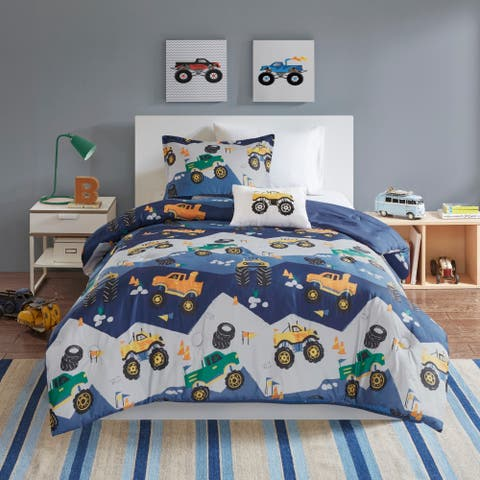 Mi Zone Kids Gavin Blue Printed Comforter Set