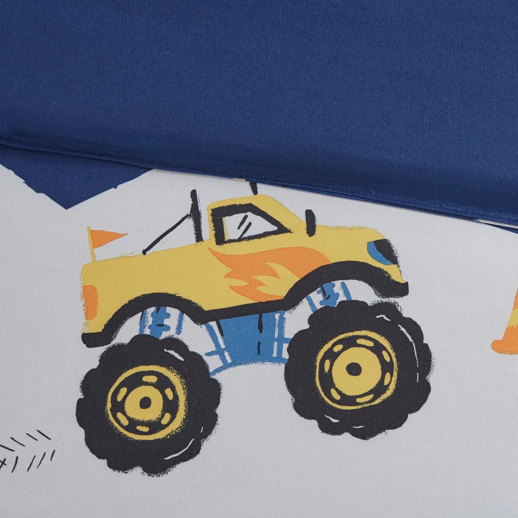 Shop Mi Zone Kids Gavin Monster Truck Blue Comforter Set Overstock 25682814