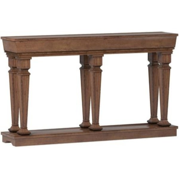 Merveilleux Shop Wooden Console Table With One Bottom Shelf, Oak Brown   Free Shipping  Today   Overstock   25682862