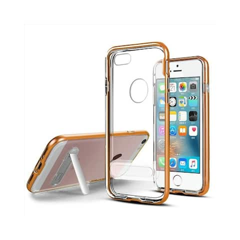 Insten Stand Hard Snap-in Transparent Case Cover for Apple iPhone 5/ iPhone 5S/ iPhone SE