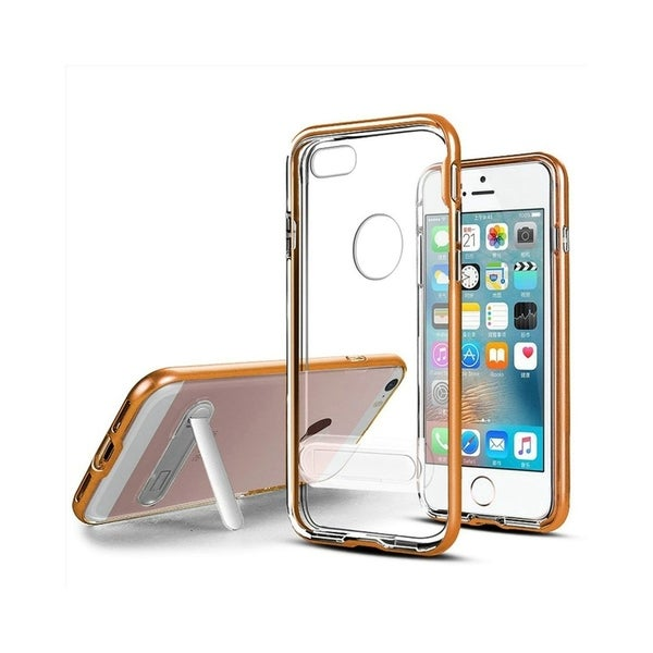meet e4ffc e4a3e Insten Stand Hard Snap-in Transparent Case Cover for Apple iPhone 5/ iPhone  5S/ iPhone SE