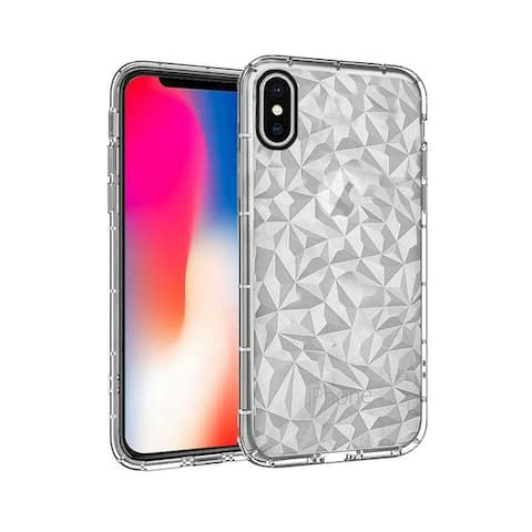 Insten Diamond Pattern TPU Rubber Candy Skin Case Cover for Apple iPhone X/ iPhone XS