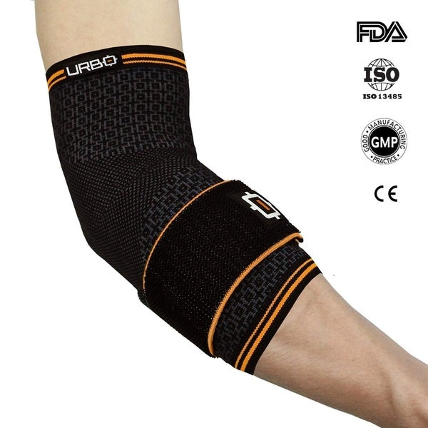 d3ecb62a09 Urbo Elbow Compression Brace (FDA & CE Approved) with Ergonomic Support  for Computer