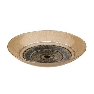 Accent Plus Golden Eye Home Decorative Plate - Glass, Iron