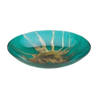 Accent Plus Celestial Home Decorative Plate - Glass, Iron