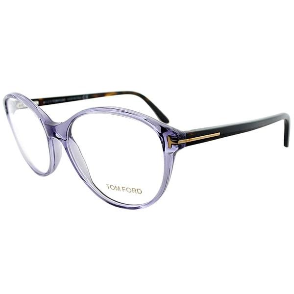 9d9e9bdd1fe1d Tom Ford Cat-Eye FT 5403 078 Women Transparent Lilac Frame Eyeglasses