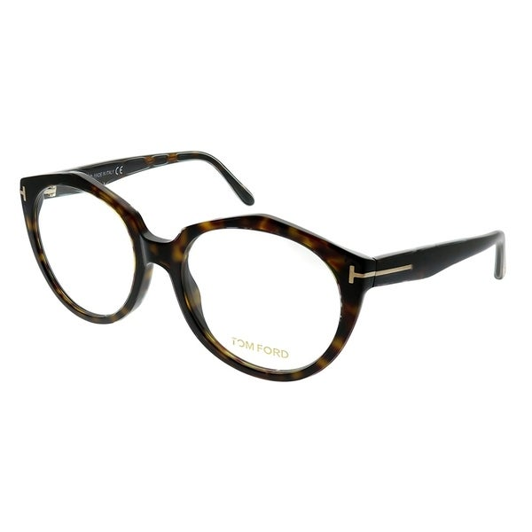 0437905a50ef Shop Tom Ford Round FT 5416 52 Women Tortoise Frame Eyeglasses ...