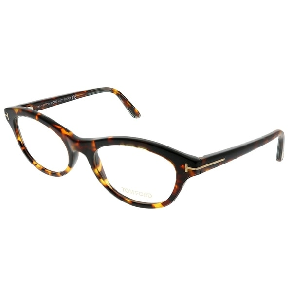 239c6d5d8007 Shop Tom Ford Cat-Eye FT 5423 052 Women Dark Havana Frame Eyeglasses ...