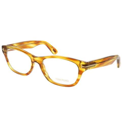 Tom Ford Rectangle FT 5425 055 Unisex Havana Frame Eyeglasses