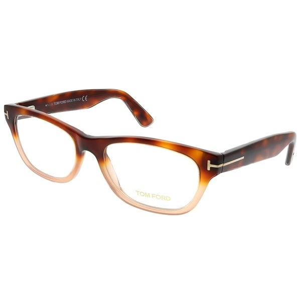 f1e1f80131 Tom Ford Rectangle FT 5425 56A Unisex Light Havana Gradient Brown Frame  Eyeglasses
