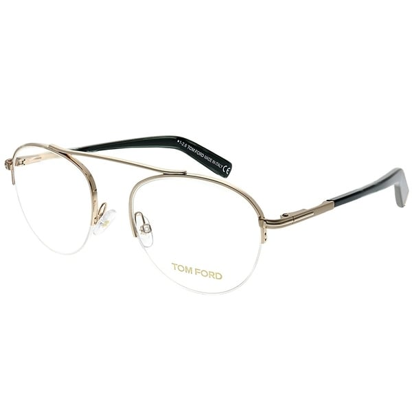 7b95c9eb7295e Shop Tom Ford Round FT 5451 028 Unisex Rose Gold Frame Eyeglasses ...