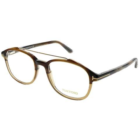 Tom Ford Square FT 5454 062 Unisex Light Tortoise Frame Eyeglasses