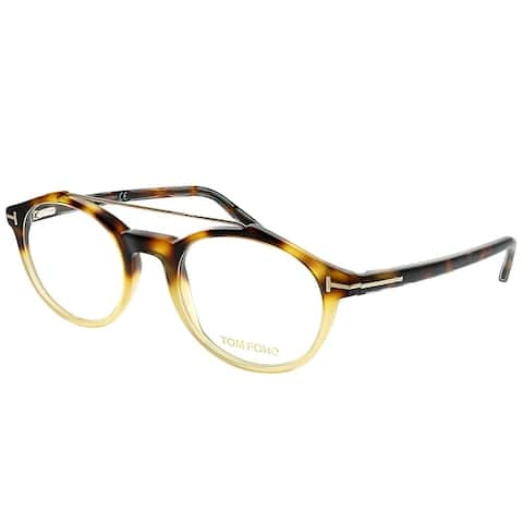 de9fef0be0c3 Tom Ford Round FT 5455 056 Unisex Dark Havana Gradient Frame Eyeglasses