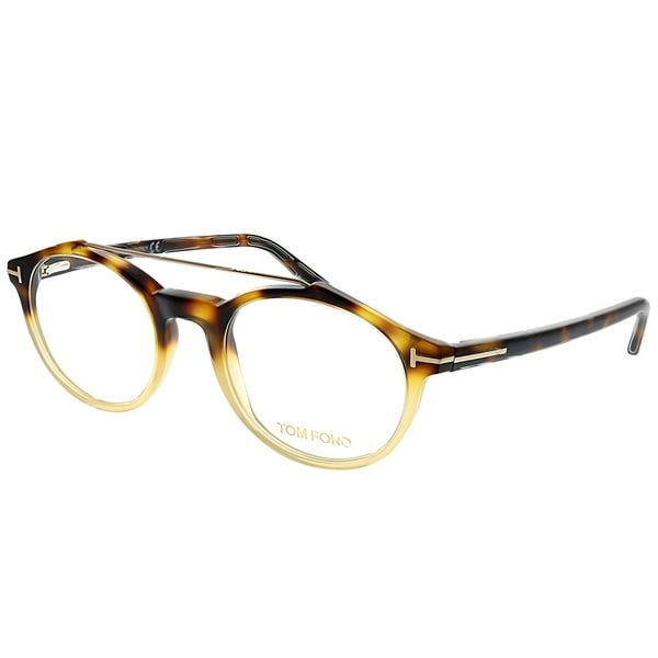 785d9bf5ffb7 Tom Ford Round FT 5455 056 Unisex Dark Havana Gradient Frame Eyeglasses
