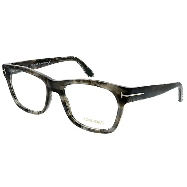 32e1bf6f3f18 Tom Ford Rectangle FT 5468 056 Unisex Grey Havana Frame Eyeglasses