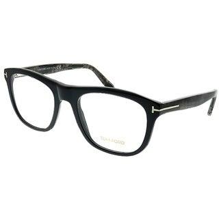 Tom Ford Rectangle FT 5480 020 Unisex Black And Grey Frame Eyeglasses