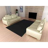 Town Square Black Living Room Area Rug