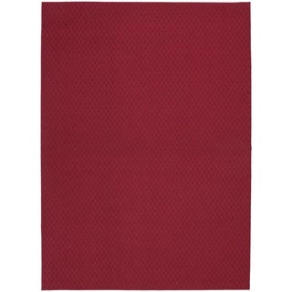 Town Square Chili Red  Living Room Area Rug