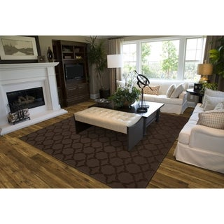 Sparta Mocha Living Room Area Rug