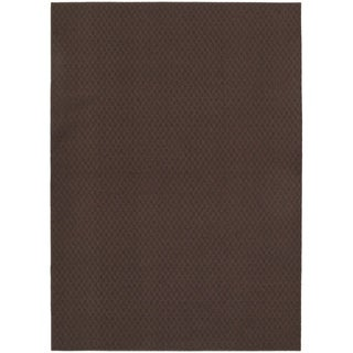 Town Square Chocolate  Living Room Area Rug