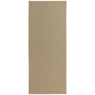 Town Square Tan Living Room Area Rug Runner - 2' x 5'