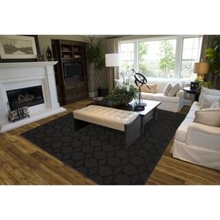 Sparta Black  Living Room Area Rug
