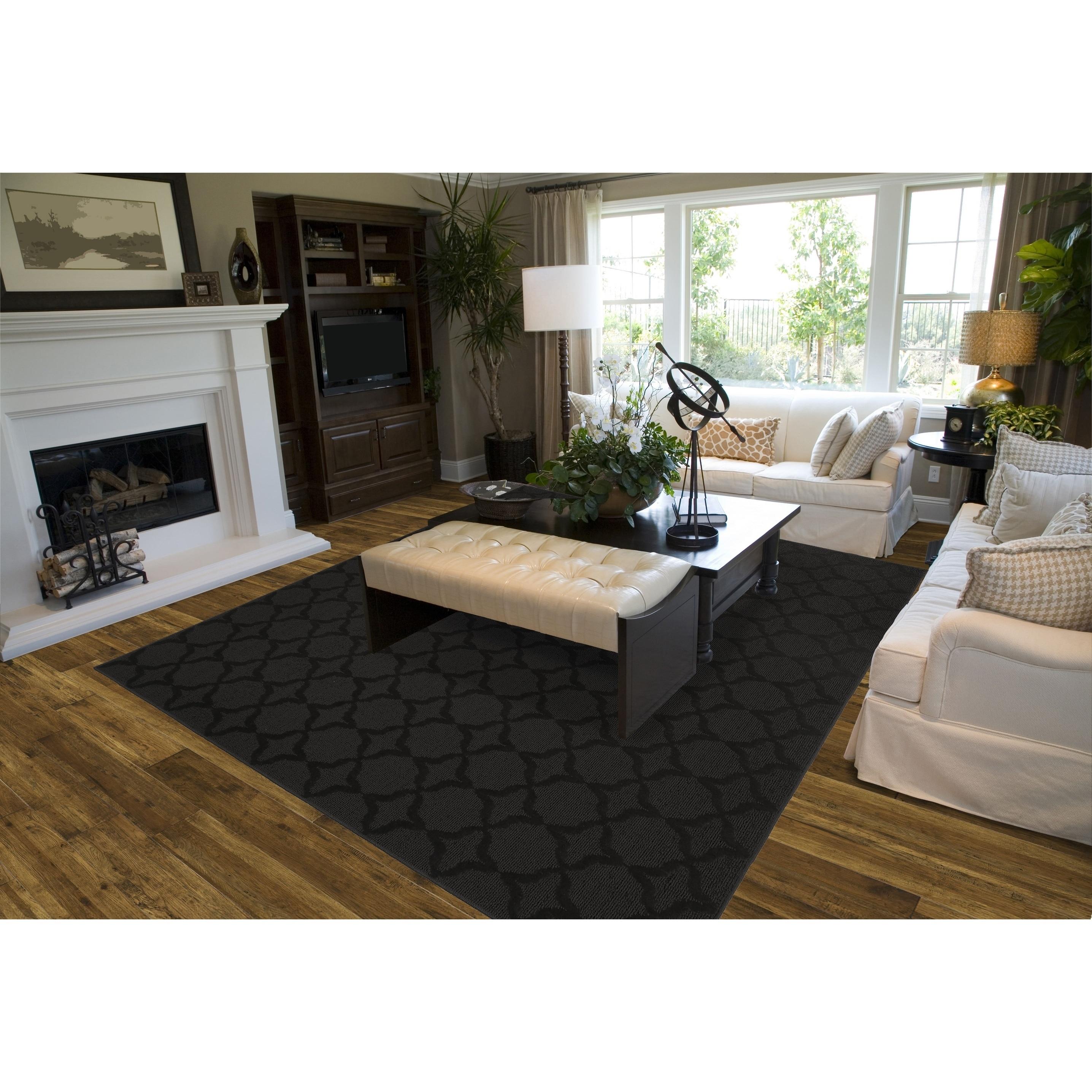Pleasant Sparta Black Living Room Area Rug Download Free Architecture Designs Pendunizatbritishbridgeorg