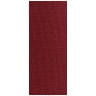 Town Square Chili Red Living Room Area Rug Runner - 2' x 5'