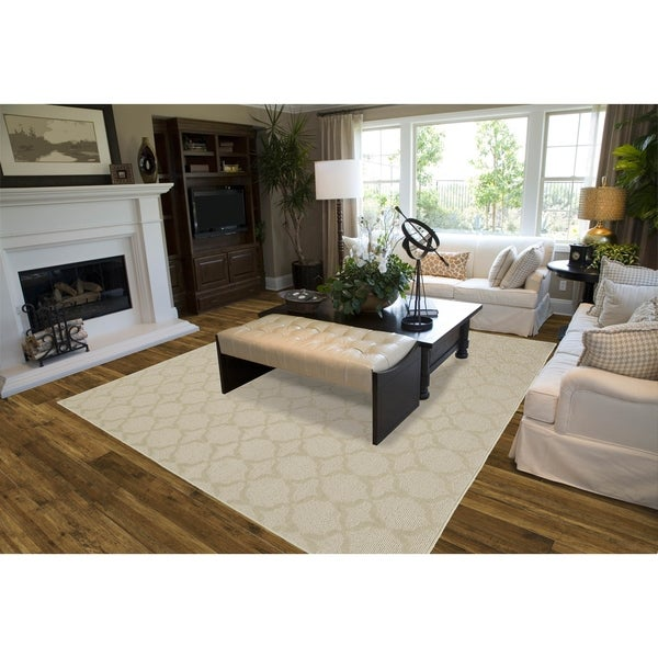 Shop Sparta Tan Living Room Area Rug